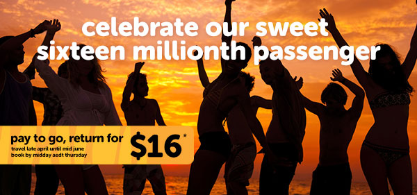 help us celebrate our 16 millionth customer in tiger style