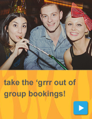 Take the 'grrr out of group bookings!